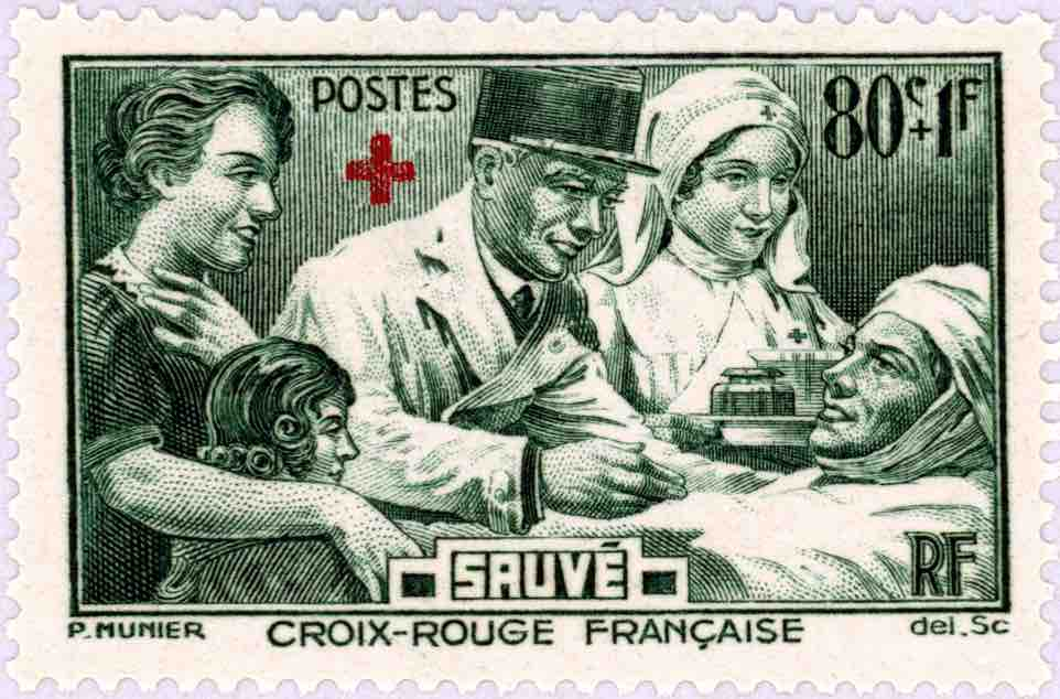 :::stamps states:80 doctor sauve croix rouge francaise green b.jpg
