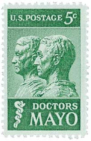 :::stamps states:5  1964 doctors mayo us postage green.jpg