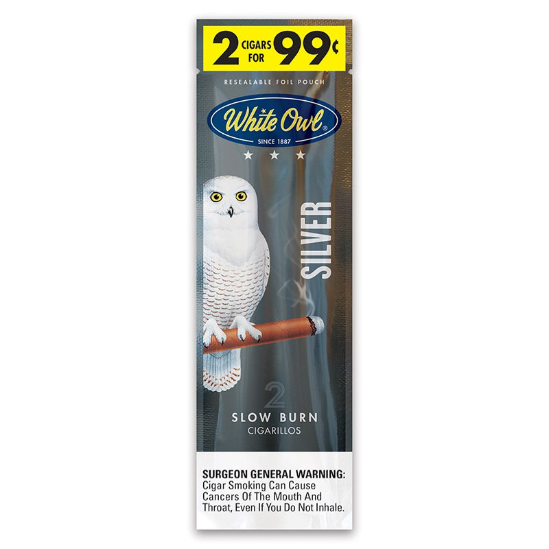 :::::LDS:2 LDS 2001-17 c - smoke chew drink etoh labels surgeon general warning:White-Owl Cigarillos Silver-Amsterdam .jpg